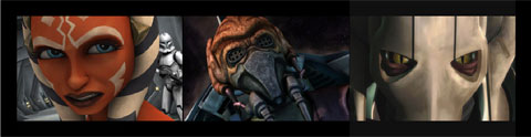 Padawan Ahsoka Tano, Jedi Master Plo Koon and General Grievous (Cartoon Network)