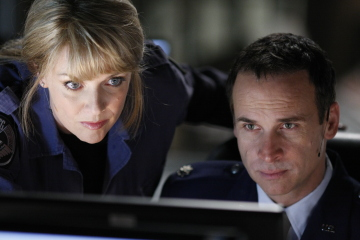 Col. Carter and Maj. Davis in Stargate Atlantis finale