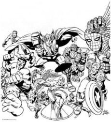 Jack Kirby Marvel characters Spider-Man X-Men Fantastic Four Hulk Thor