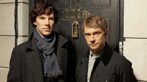 Benedict Cumberbatch and Martin Freeman in Sherlock (BBC)