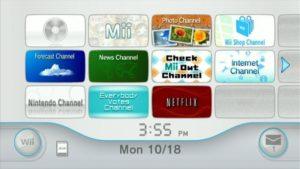 Netflix Wii Menu