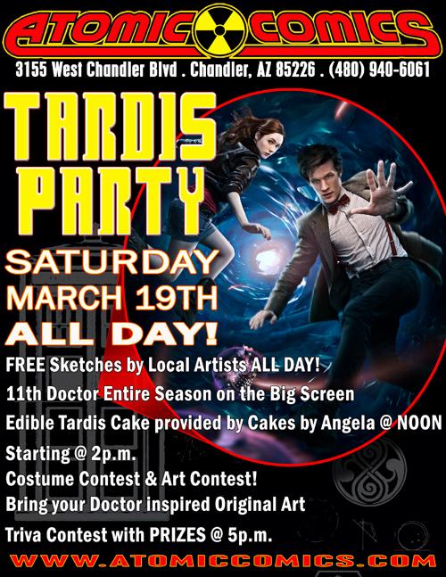 Atomic Comics Doctor Who TARDIS Party