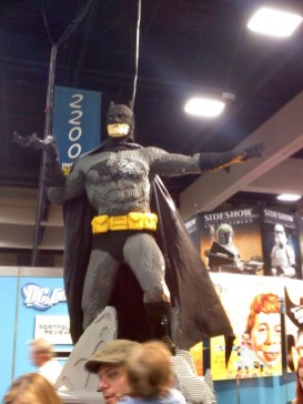 A life-sized version of the Caped Crusader was created out of Lego to stand guard over the convention floor.