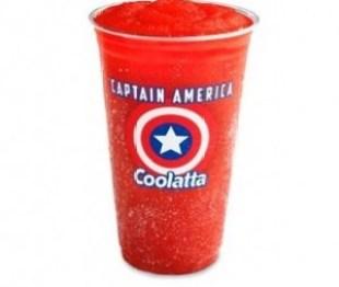 Captain America Coolatta at Dunkin' Donuts