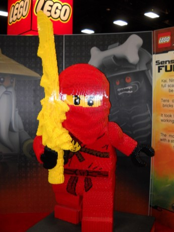 There were several impressive Lego statues around the convention floor. This ninja guarded one end of the Lego booth.