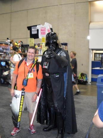 I've seen plenty of Darth Vaders in my time, but this one was worthy of a photo, if only due to his sheer size. At well over six and a half feet, he looked like a true Sith Lord.
