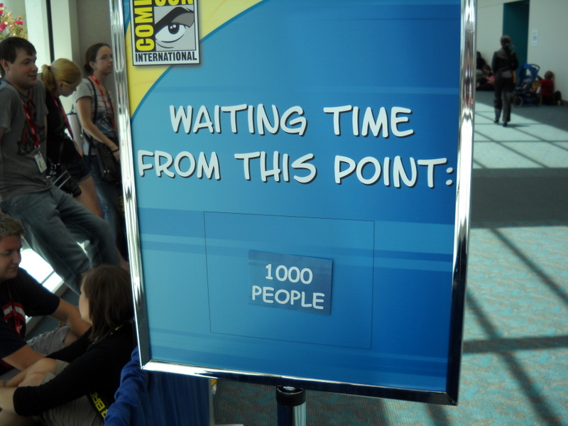 The Game of Thrones line stretched all the way down the hall to this point.