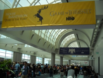 This is the beginning of the line for Thursday's Game of Thrones panel. While the line doesn't look so bad here...