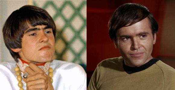 Davy Jones (left) and Walter Koenig as Chekov (right)