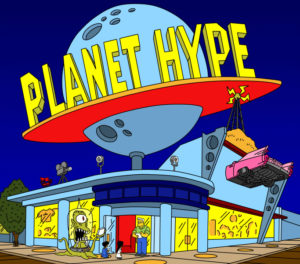 Planet Hype from The Simpsons