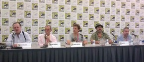 Kirby Tribute Panel - (L-R) Evanier, Goldberg, Hatfield, Dini, Levine