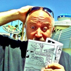 Reading Amazing Arizona Comics at the Gila Bend Space Age Lodge