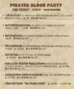 Pirates 2nd Friday Schedule