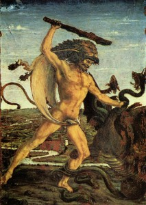 Hercules Clubs the Hydra by Antonio del Pollaiolo