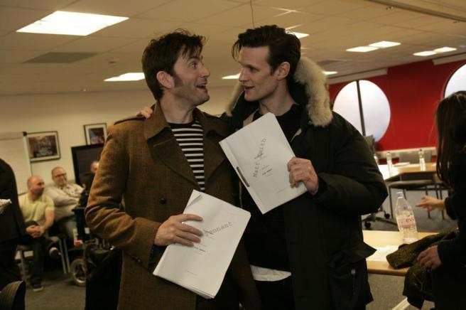 David Tennant and Matt Smith