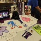 Submissions for the youth art contest decorated the Pepped Up! booth.