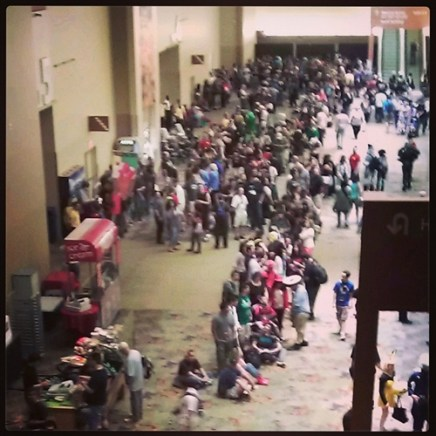 Waiting for the doors to open at Phoenix Comicon 2013