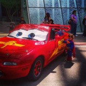 Superbaby loves the 'Cars!'