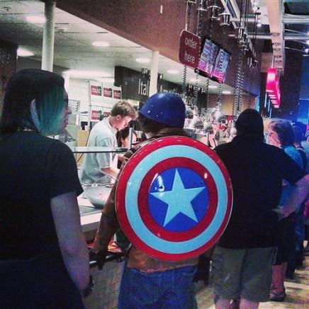 Even Cap's gotta eat!