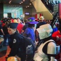 Crazy big crowd at Comicon