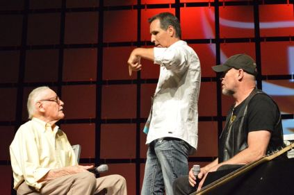 Stan Lee, with McFarlane and Rooker