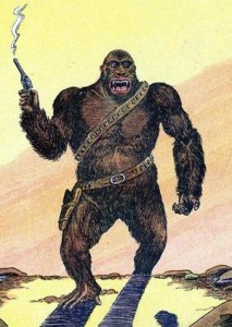 "Original 1939 ""pulp"" version of Six-Gun Gorilla"