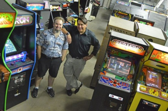 Steve Thomas and Mike Lovato, owners of StarFighters Arcade