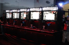 A shot of the Dreadnought booth before it was opened up to players.