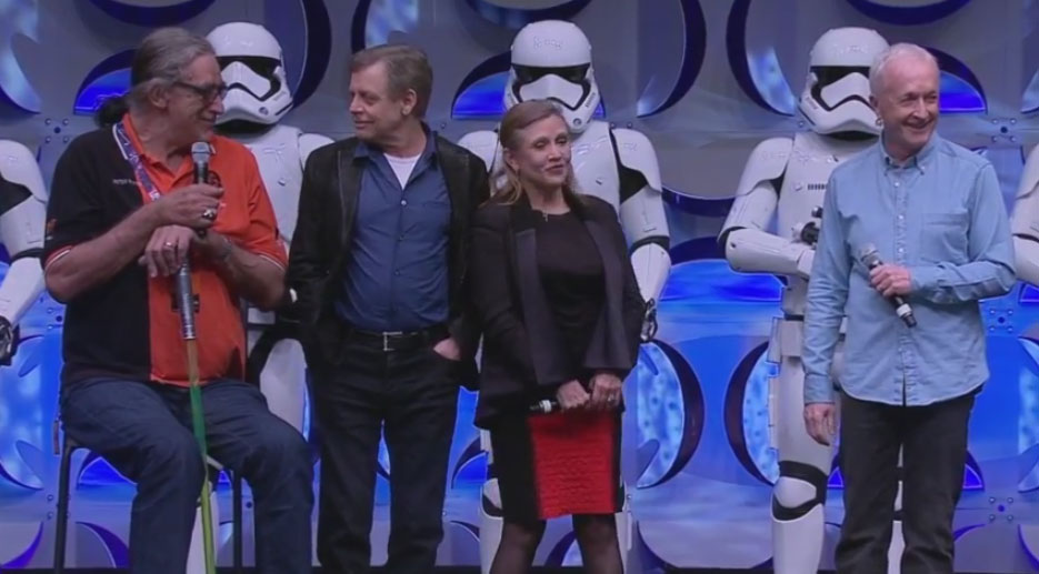 Peter Mayhew, Mark Hamill, Carrie Fisher, Anthony Daniels