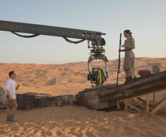 J.J. Abrams directs Daisy Ridley