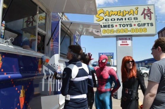 Even heroes have to eat on FCBD.