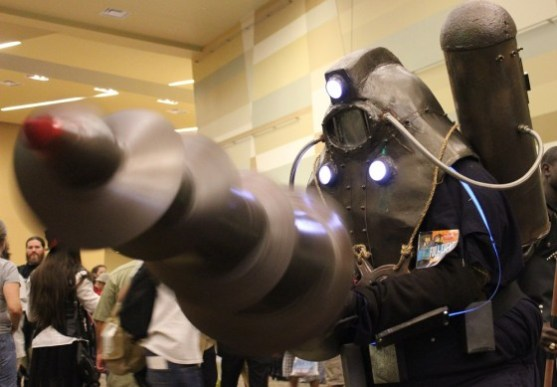 A Big Daddy cosplayer from the Bioshock series. (Photo by Christen Bejar)