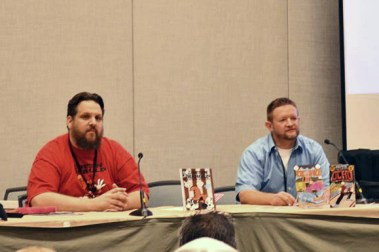 Comic creators, Denny Riccelli and Eric Mengel