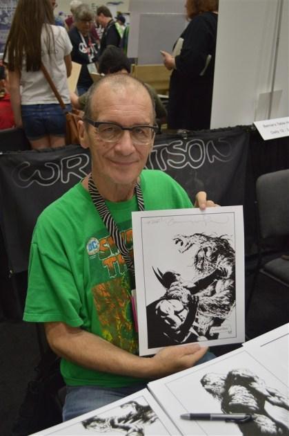 Co-creator of Swamp Thing, Bernie Wrightson