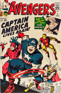 Avengers #4 - March, 1964 - art by Jack Kirby