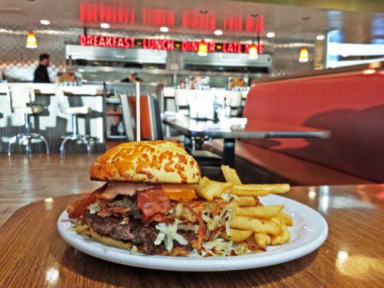 Denny's Slamtastic Thing Burger - photo by Bob Leeper