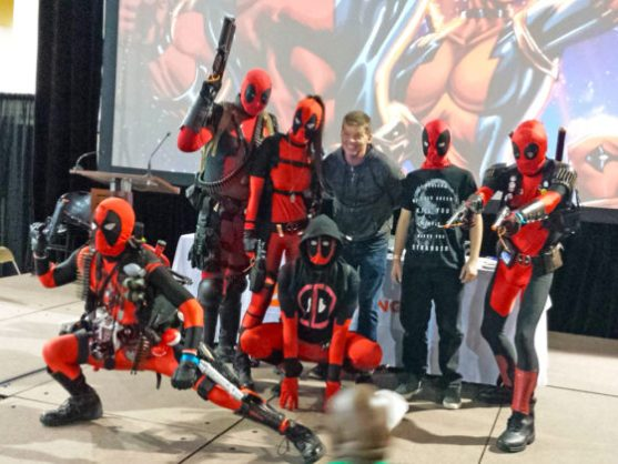 Rob Liefeld and Deadpools at Amazing Arizona Comic Con 2015