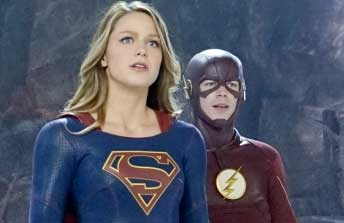 "Supergirl meets The Flash in ""World's Finest."""