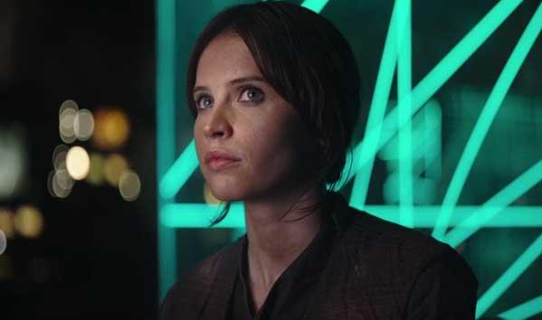 Felicity Jones as Jyn Erso in Rogue One: A Star Wars Story
