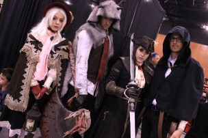 A Bloodborne cosplay group. [Photo by Christen Bejar]