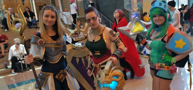 League of Legends Lux, Illaoi and Arcade Riven [photo by Justin Franco]