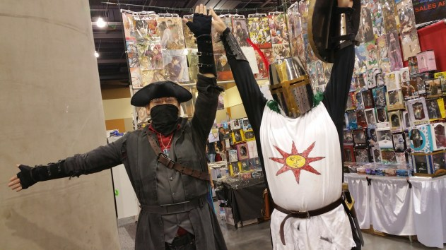 A Bloodborne Hunter and Solaire of Astora from Dark Souls. [photo by Christen Bejar]