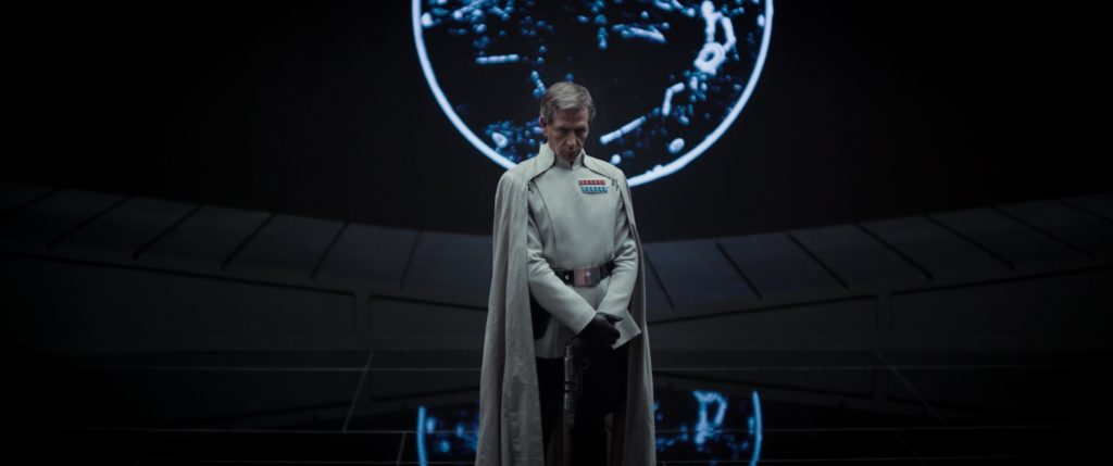 Ben Mendelsohn portrays Imperial Director Orson Krennic in Rogue One: A Star Wars Story