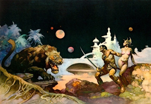 John Carter of Mars - art by Frank Frazetta