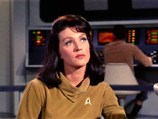 Majel Barrett-Roddenberry as Number One in the Star Trek pilot, The Cage