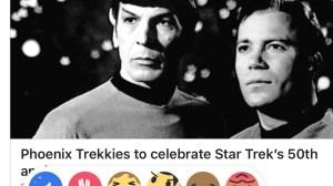 Star Trek Facebook Reactions