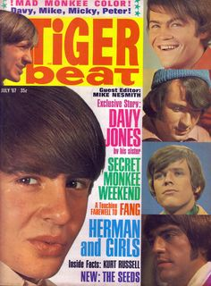 Tiger Beat features The Monkees