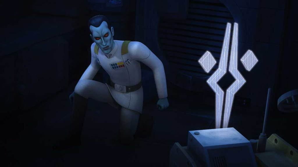 Grand Admiral Thrawn confronts Fulcrum
