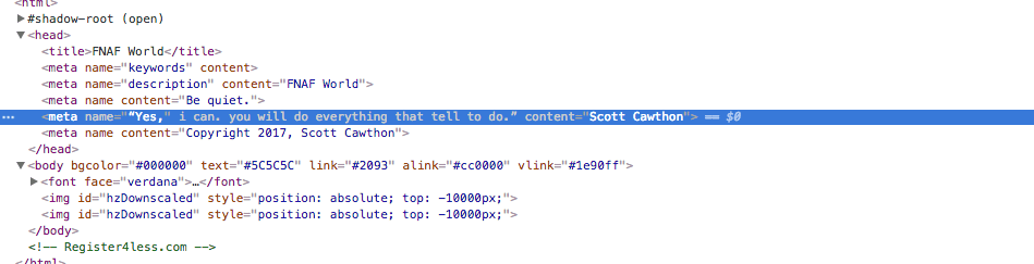 FNAF source code