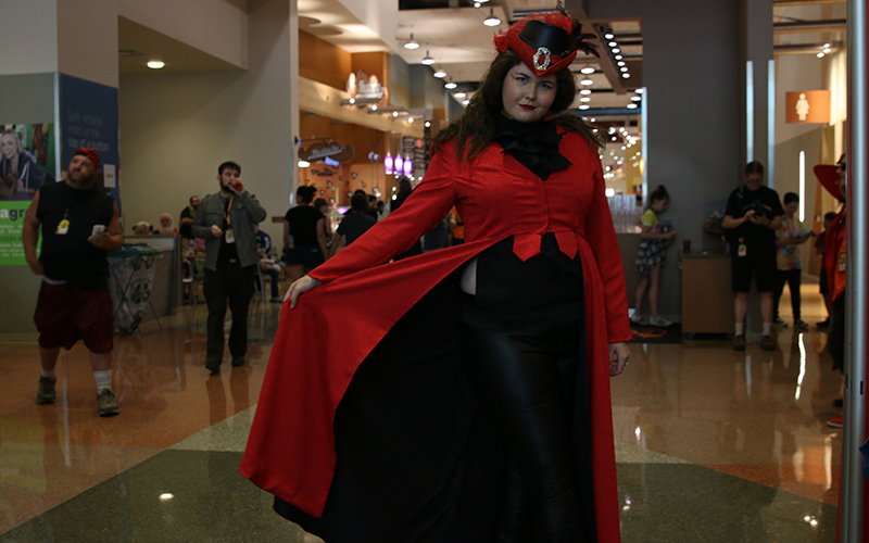 Amanda Burch, 22, traveled from Los Angeles to attend Phoenix Comicon. Her costume took roughly three weeks to assemble and cost about $450. (Photo by Devin Conley/Cronkite News)